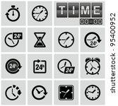 Clocks  Time Icons Set.