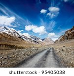 Road In Mountains  Himalayas ....