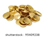 Pile Of Golden Coin 3d...