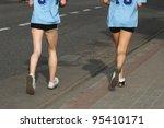 marathon runners | Shutterstock . vector #95410171