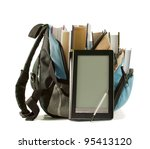 electronic book with books in...   Shutterstock . vector #95413120