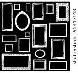 vintage wooden frames wall... | Shutterstock .eps vector #95417143