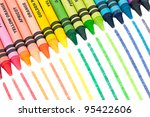 Colorful Crayons In A Slanted...