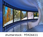 film roll with color pictures ...   Shutterstock . vector #95426611