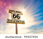 Historic Route 66 Sign At Santa ...