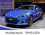 TORONTO-FEBRUARY 16: The new Subaru BRZ on display at the 2012 Canadian International Auto Show on February 16, 2012 in Toronto, Canada. - stock photo