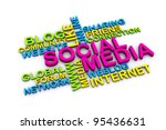 3d social media and other... | Shutterstock . vector #95436631