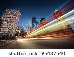 los angeles at night. long...   Shutterstock . vector #95437540