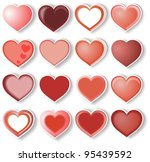 heart set | Shutterstock . vector #95439592