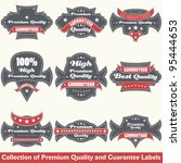 premium quality and guarantee... | Shutterstock .eps vector #95444653