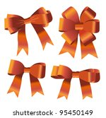 the set of ribbon bow | Shutterstock .eps vector #95450149