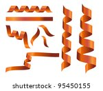 the set of ribbon line twist...   Shutterstock .eps vector #95450155
