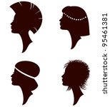 vector beautiful women and girl ... | Shutterstock . vector #95461381