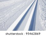 Cross Country Skiing Tracks In...