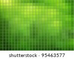 Green Tiled Mosaic Background...