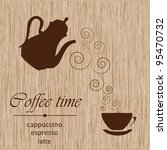 template of a coffee menu | Shutterstock .eps vector #95470732