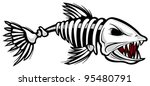 fish skeleton | Shutterstock .eps vector #95480791
