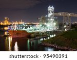 chemical tanker moored at... | Shutterstock . vector #95490391