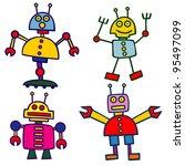 robots | Shutterstock .eps vector #95497099