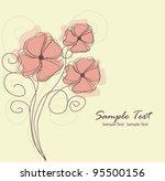 floral background. vector... | Shutterstock .eps vector #95500156