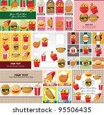 cartoon fast food card   Shutterstock .eps vector #95506435