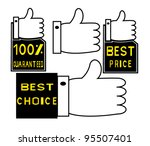 guaranteed label | Shutterstock .eps vector #95507401