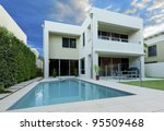 luxurious modern house with... | Shutterstock . vector #95509468