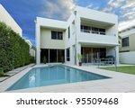 luxurious modern house with...   Shutterstock . vector #95509468