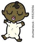 cartoon baby  raster version    Shutterstock . vector #95525056