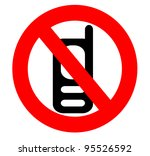 no cell phone icon  sign... | Shutterstock . vector #95526592