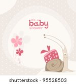 cute baby shower design. vector ... | Shutterstock .eps vector #95528503