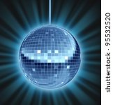 disco ball dance night as a... | Shutterstock . vector #95532520