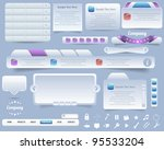 web elements vector design | Shutterstock .eps vector #95533204