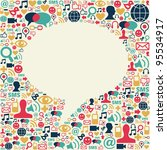 social media icons texture in... | Shutterstock .eps vector #95534917
