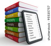 e book as a replacement for... | Shutterstock . vector #95535757