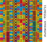 colored texture with ethnic and ...   Shutterstock .eps vector #95536711