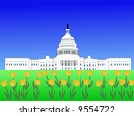 us capitol building washington... | Shutterstock . vector #9554722