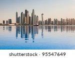 the business district of dubai   Shutterstock . vector #95547649