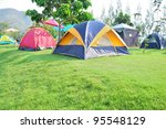 Colorful Campsite Tent