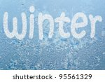 frost pattern on the glass   Shutterstock . vector #95561329