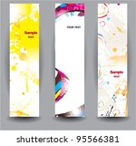 vertical glossy banners | Shutterstock .eps vector #95566381