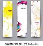 vertical glossy banners | Shutterstock .eps vector #95566381