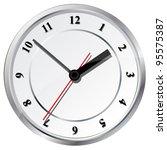wall clock. vector illustration.   Shutterstock .eps vector #95575387