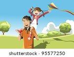 a vector illustration of a... | Shutterstock .eps vector #95577250