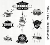 vintage styled premium quality... | Shutterstock .eps vector #95577487