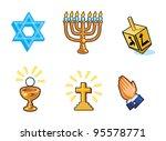 religious icons | Shutterstock .eps vector #95578771