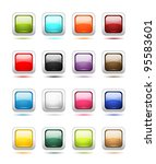 set of glossy button icons for... | Shutterstock .eps vector #95583601