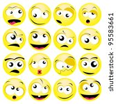 smileys set | Shutterstock .eps vector #95583661