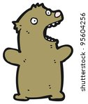 funny cartoon bear | Shutterstock . vector #95604256