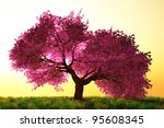 mysterious cherry blossoms... | Shutterstock . vector #95608345